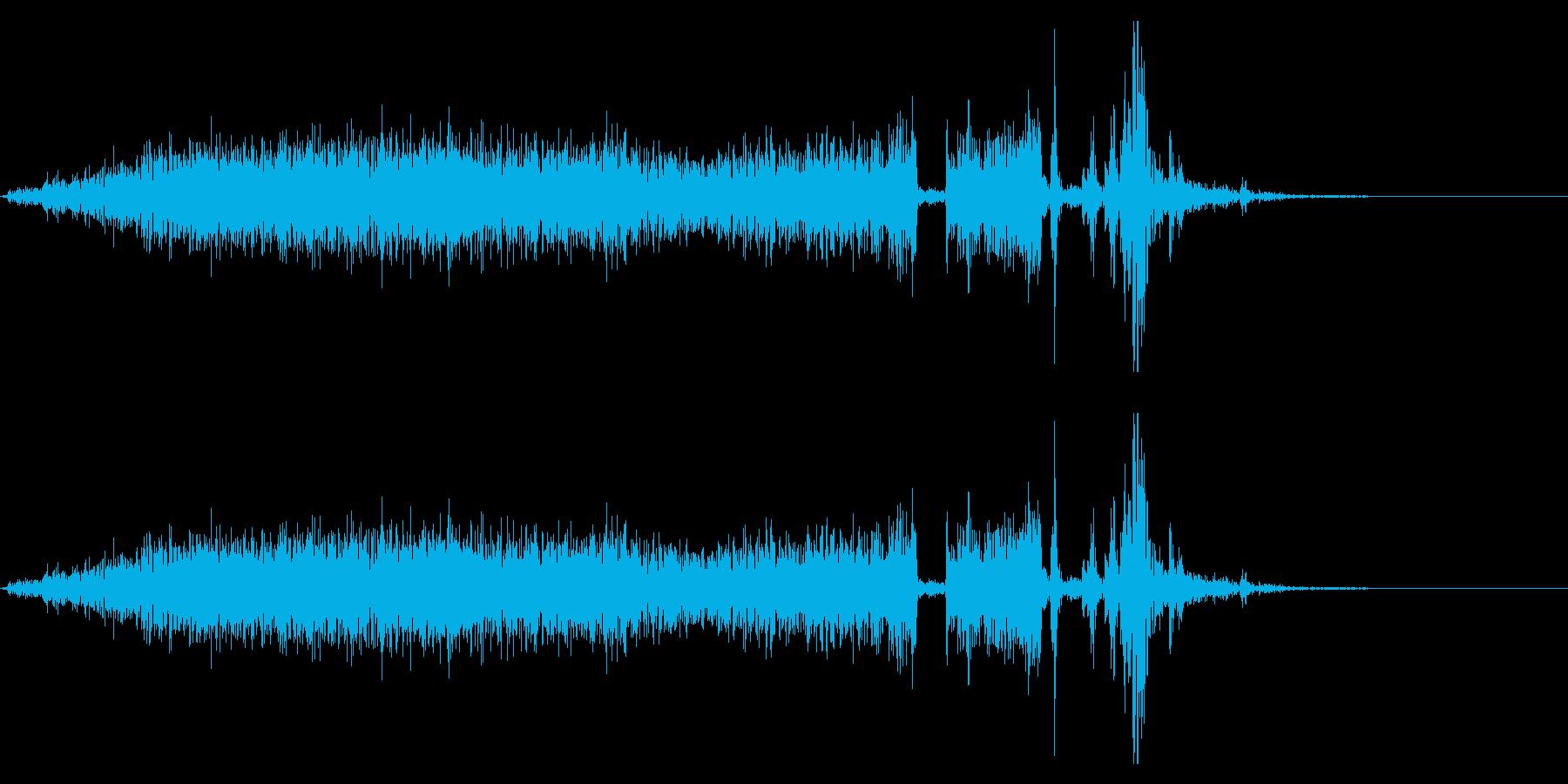【生録音】本のページをめくる音 12の再生済みの波形