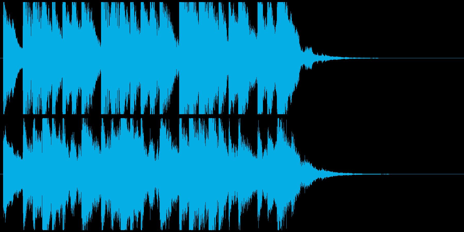 怪しい箏(琴)のジングルAの再生済みの波形