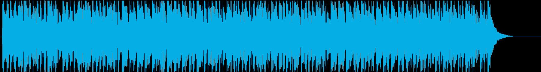 コミカルな子供向け行進曲風BGMの再生済みの波形