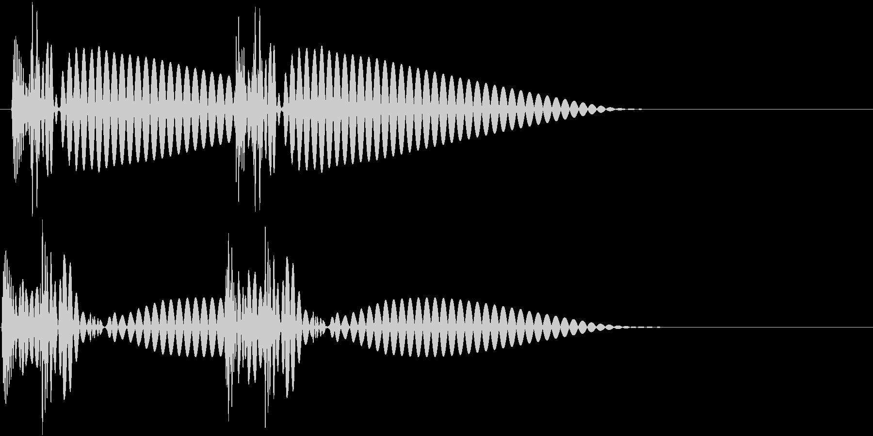 HeartBeat 心臓の音 4 単発の未再生の波形