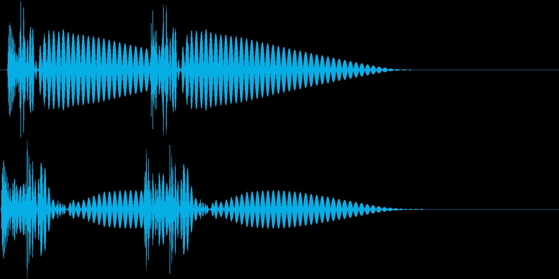HeartBeat 心臓の音 4 単発の再生済みの波形