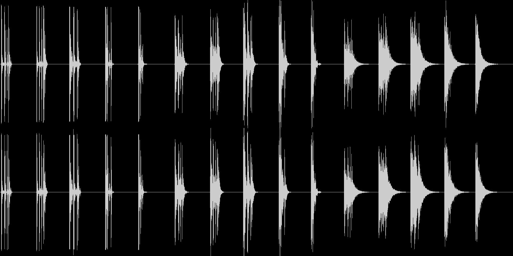 ミディアムライトウッドチョップ、5...の未再生の波形