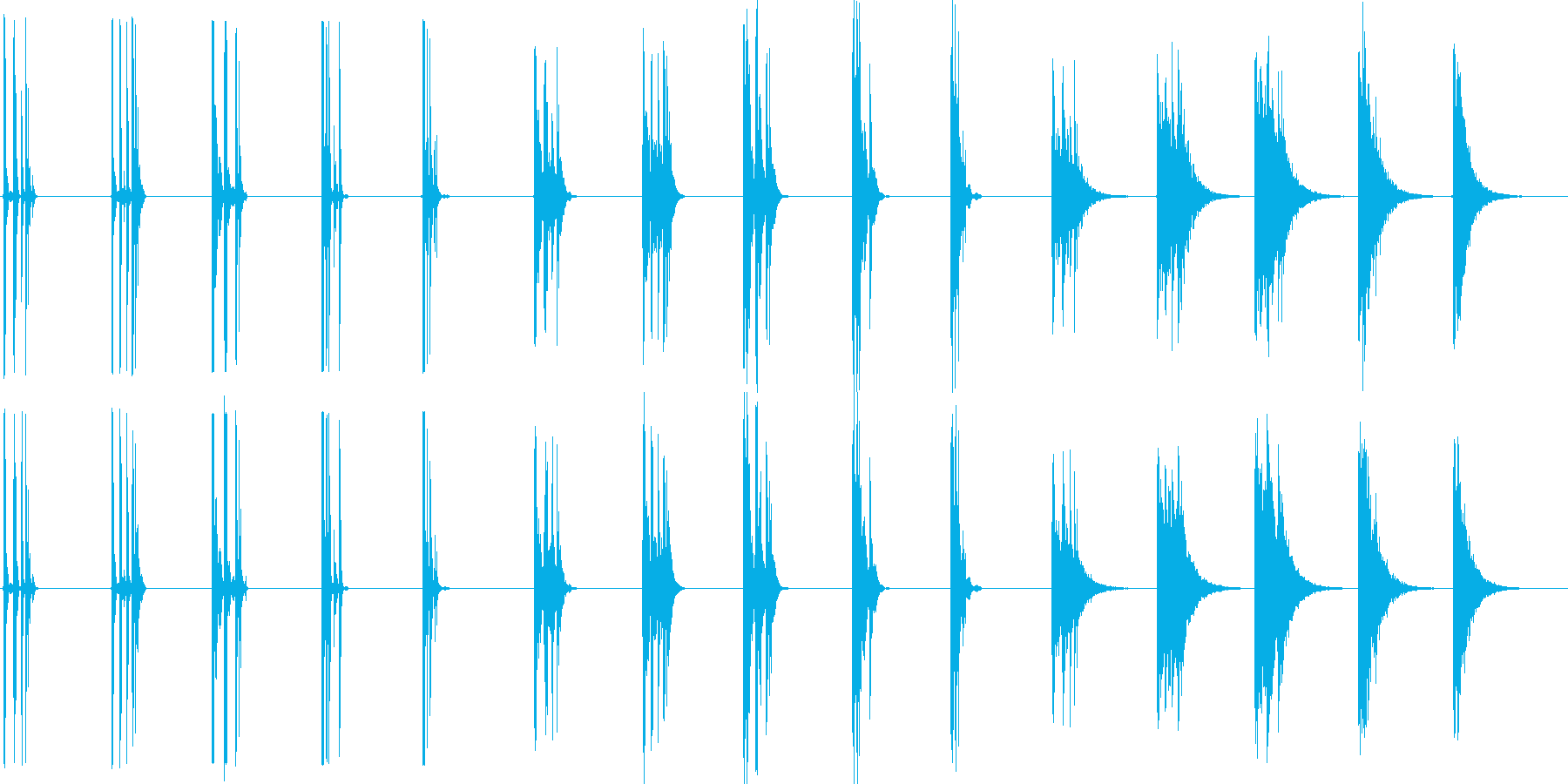 ミディアムライトウッドチョップ、5...の再生済みの波形