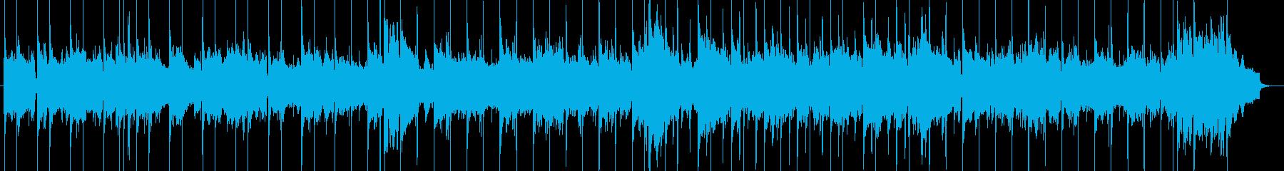 R&BスローバラードBGMの再生済みの波形