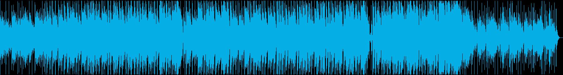 雅なイメージの和風スローテクノの再生済みの波形