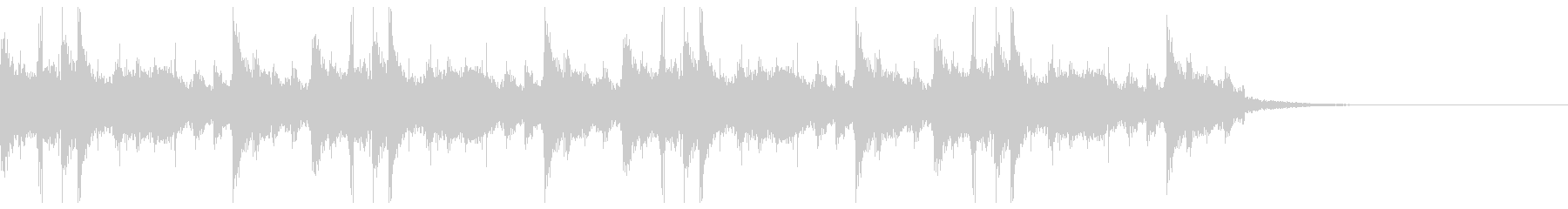 チップチューンなシンキングタイム音の未再生の波形