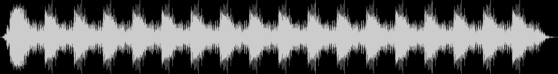 小さなプラスチック製の音響警告アラ...の未再生の波形