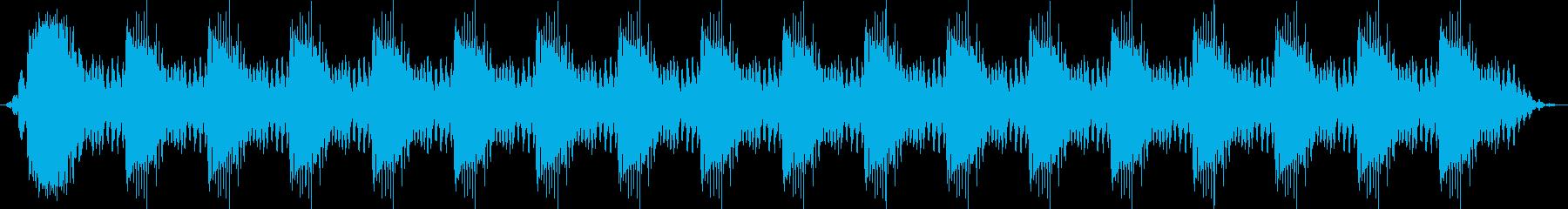 小さなプラスチック製の音響警告アラ...の再生済みの波形