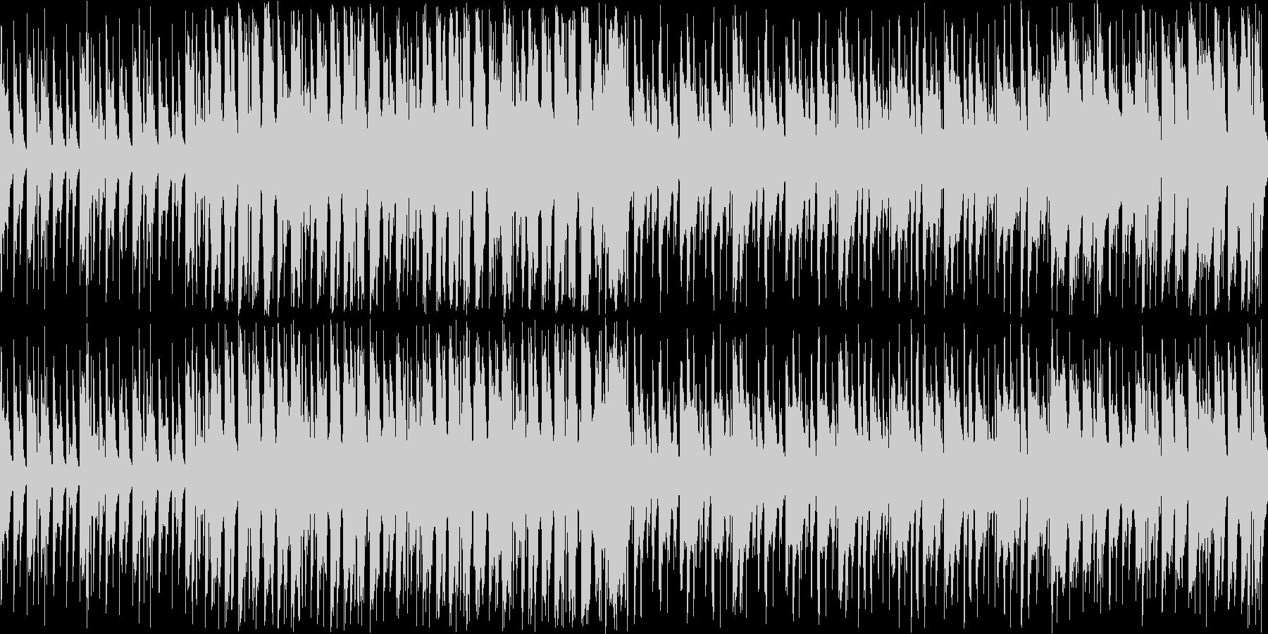 【ループ】楽しく弾むような、明るいBGMの未再生の波形