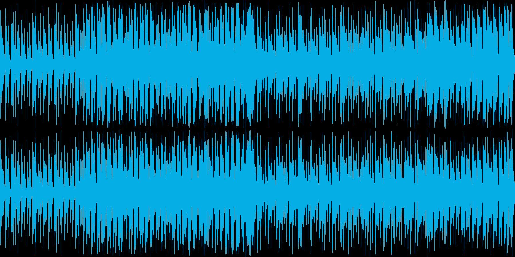 【ループ】楽しく弾むような、明るいBGMの再生済みの波形
