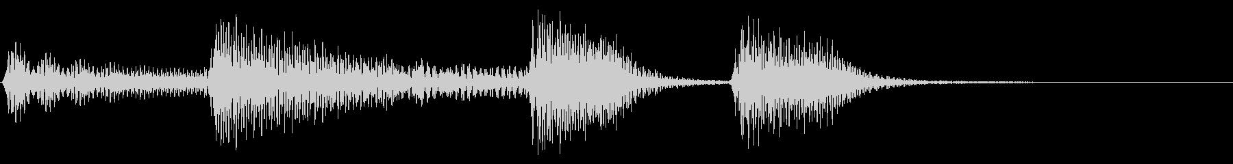 あたたかい ボサノバ ナイロンギターの未再生の波形