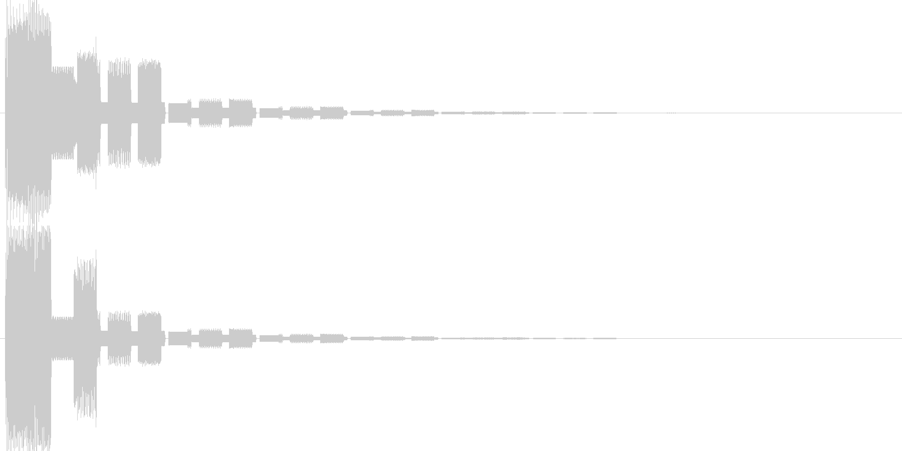 ピコンファミコン系クリックスタート音の未再生の波形