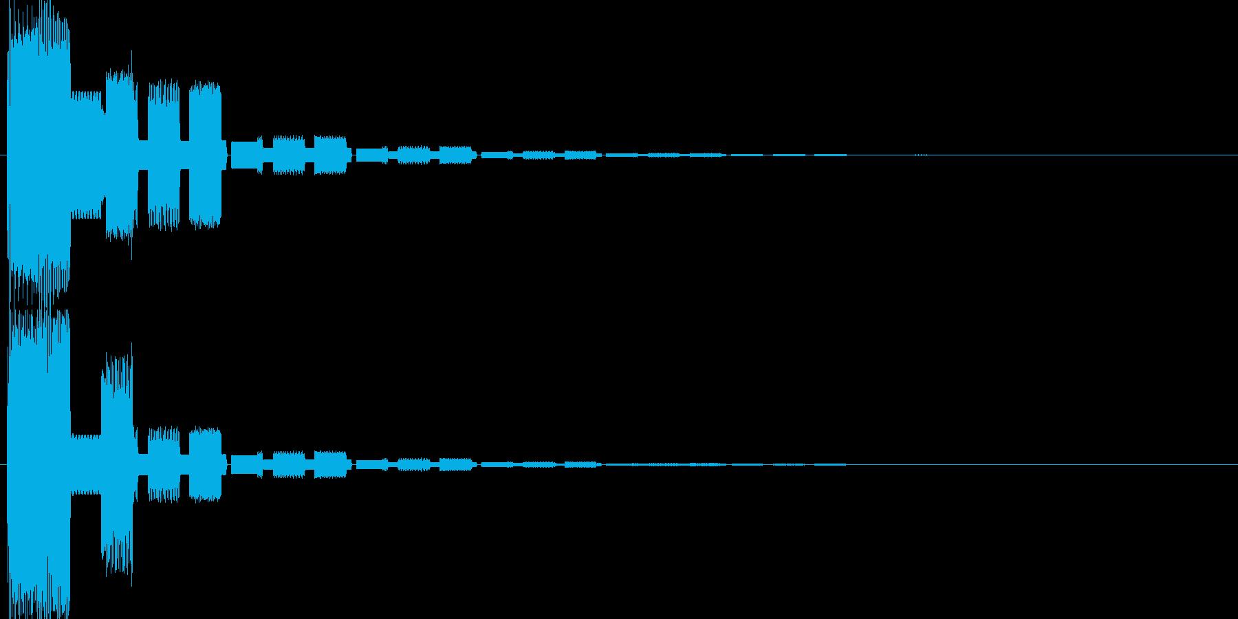 ピコンファミコン系クリックスタート音の再生済みの波形