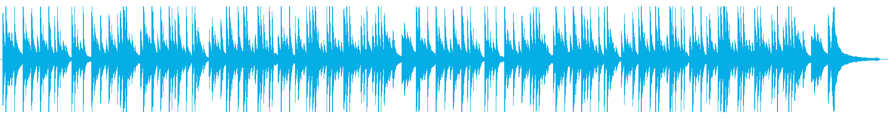 ゆったり優しい シンプルなピアノソロの再生済みの波形