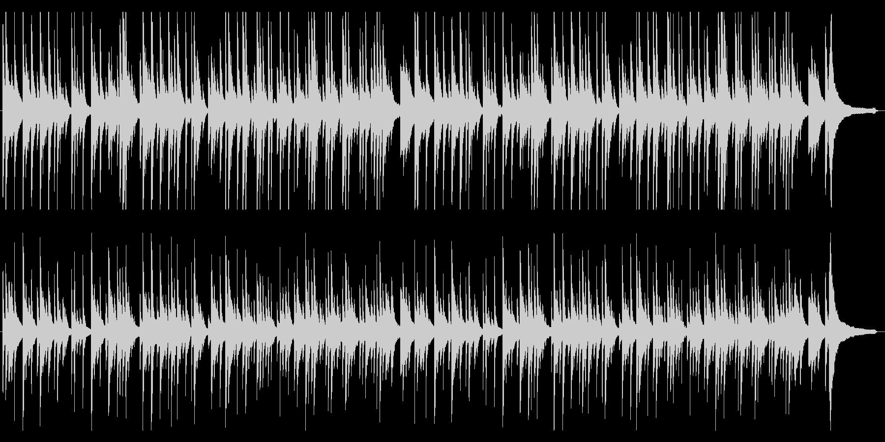 ゆったり優しい シンプルなピアノソロの未再生の波形