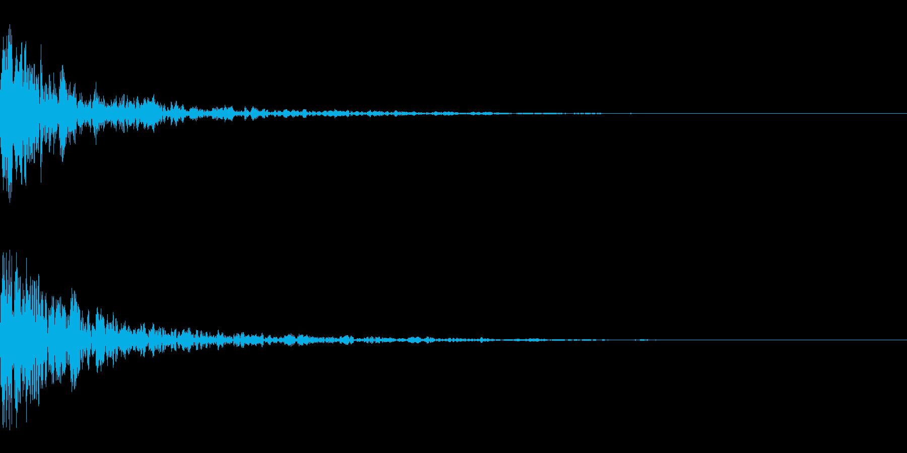 ドーン-47-1(インパクト音)の再生済みの波形