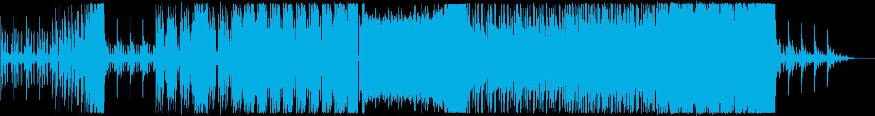 恐怖感たっぷりのBGMの再生済みの波形