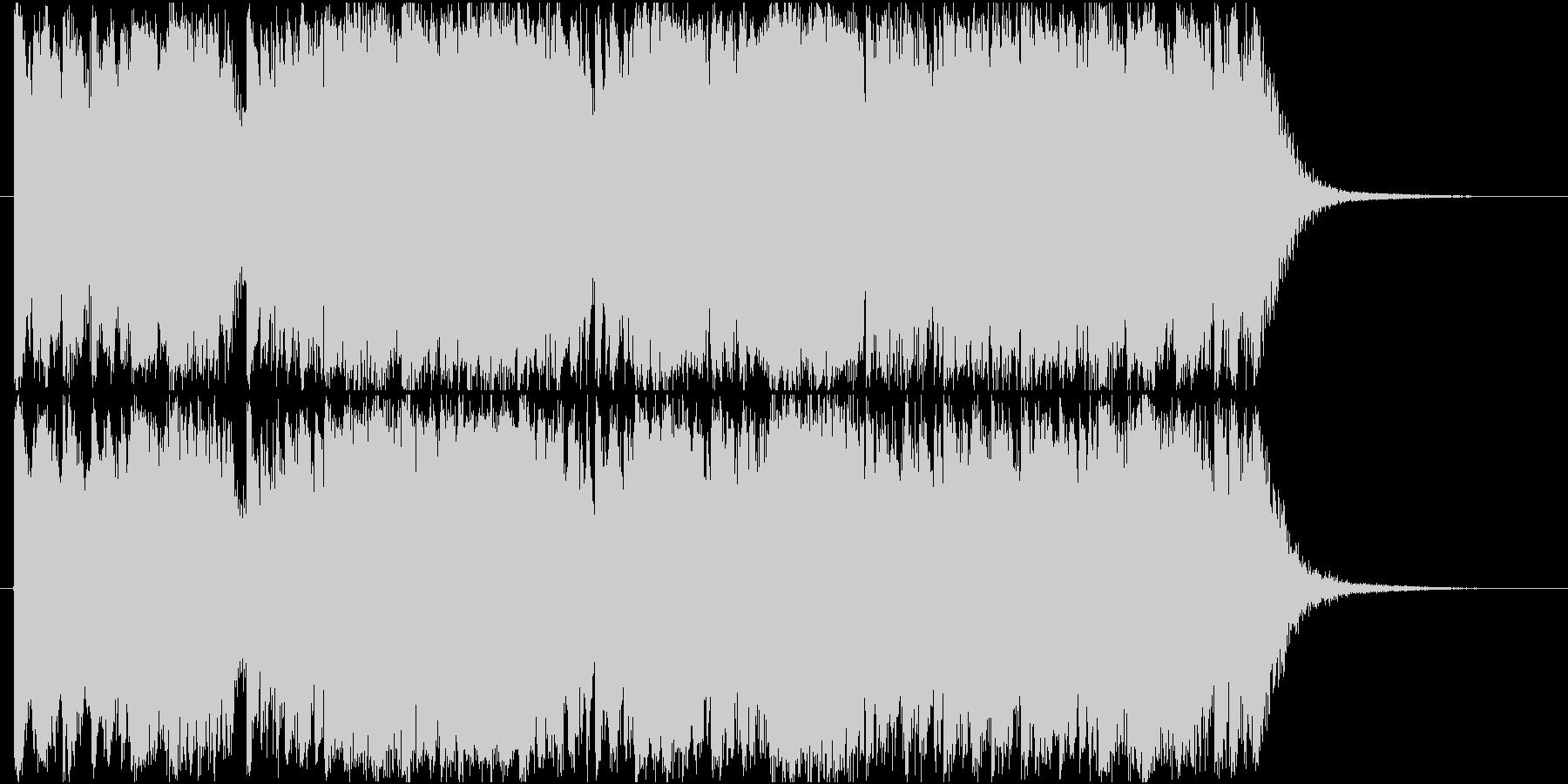 尺八・筝・太鼓による激しい和楽器ジングルの未再生の波形