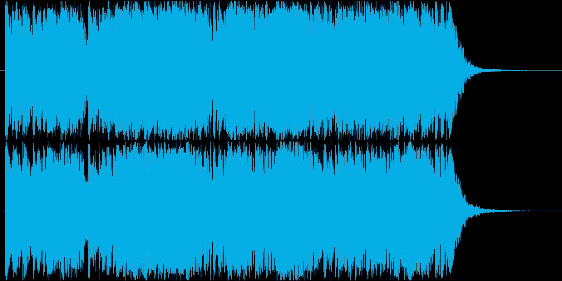 尺八・筝・太鼓による激しい和楽器ジングルの再生済みの波形