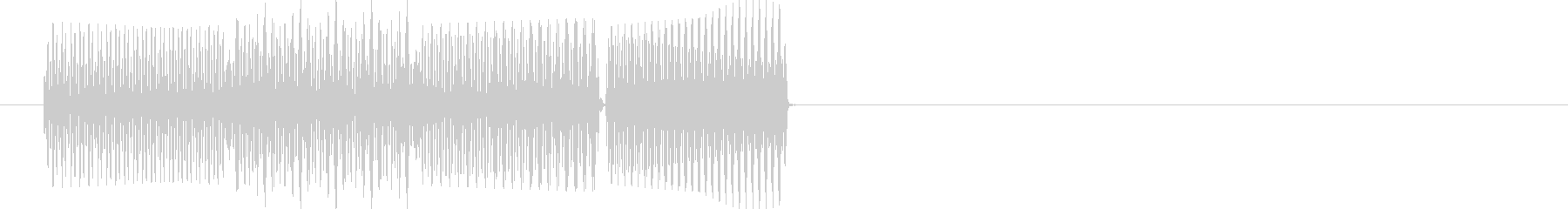 テロリラン(スロットでの確定音)の未再生の波形