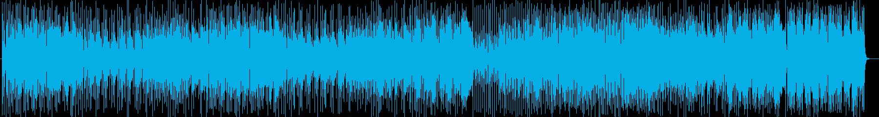 明るいポップなラテン調の曲の再生済みの波形