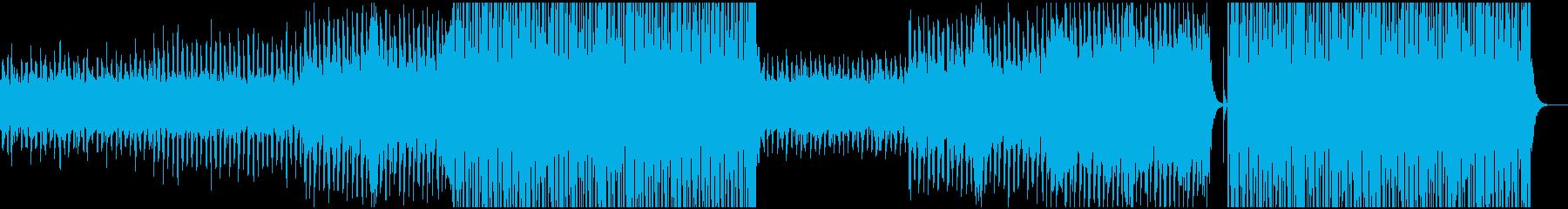 トロピカルでゆったりしたレゲエビートの再生済みの波形