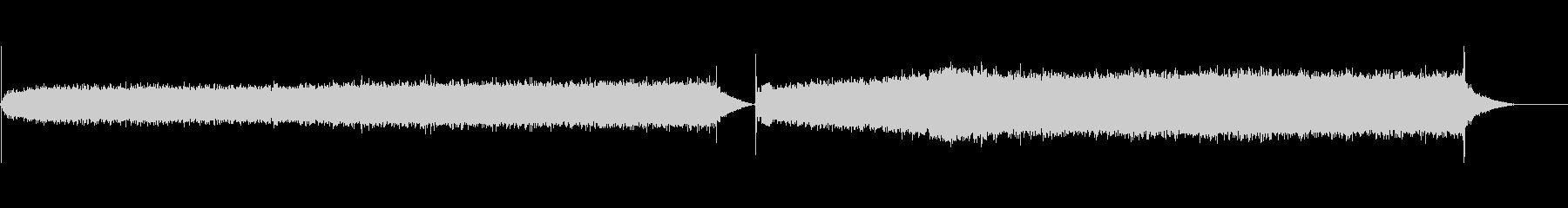 マイクロ波音信号の未再生の波形