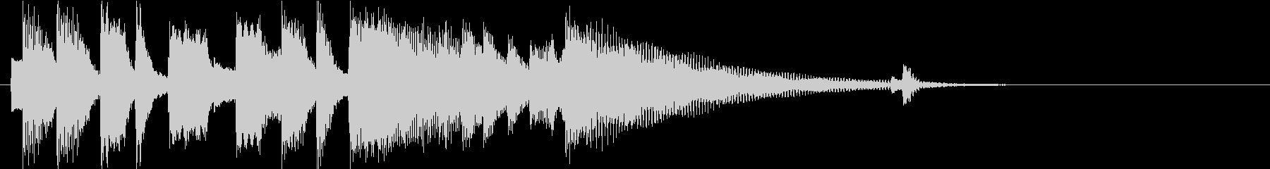 シンプルなエレピのアイキャッチの未再生の波形
