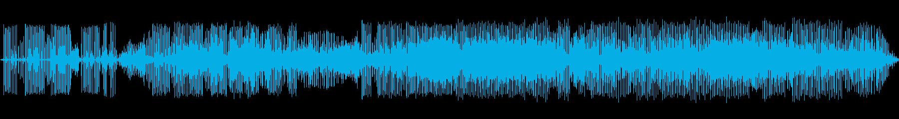 カエルの鳴き声-4の再生済みの波形
