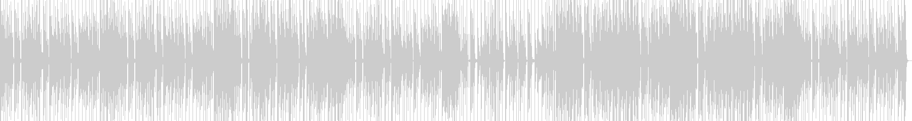 洋楽ポップスのようなおしゃれトラックの未再生の波形