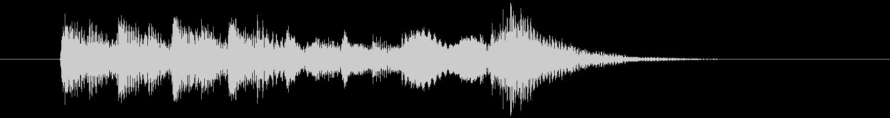 涼やかな琴による和風BGMの未再生の波形