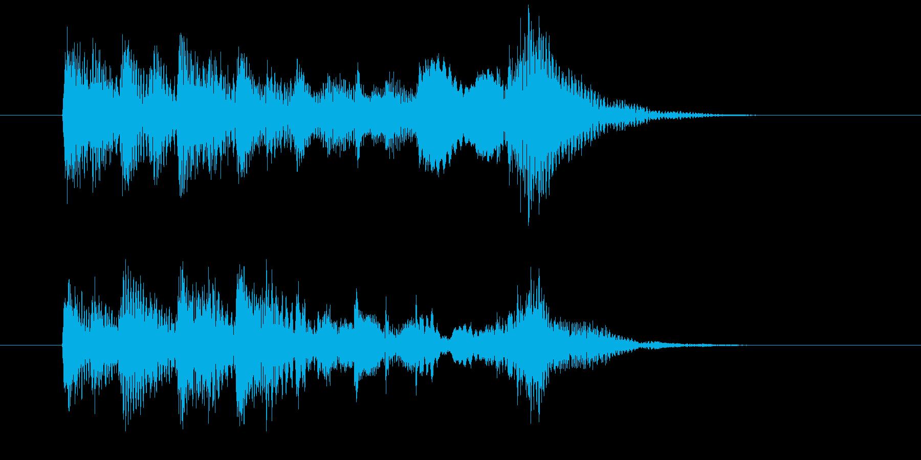 涼やかな琴による和風BGMの再生済みの波形