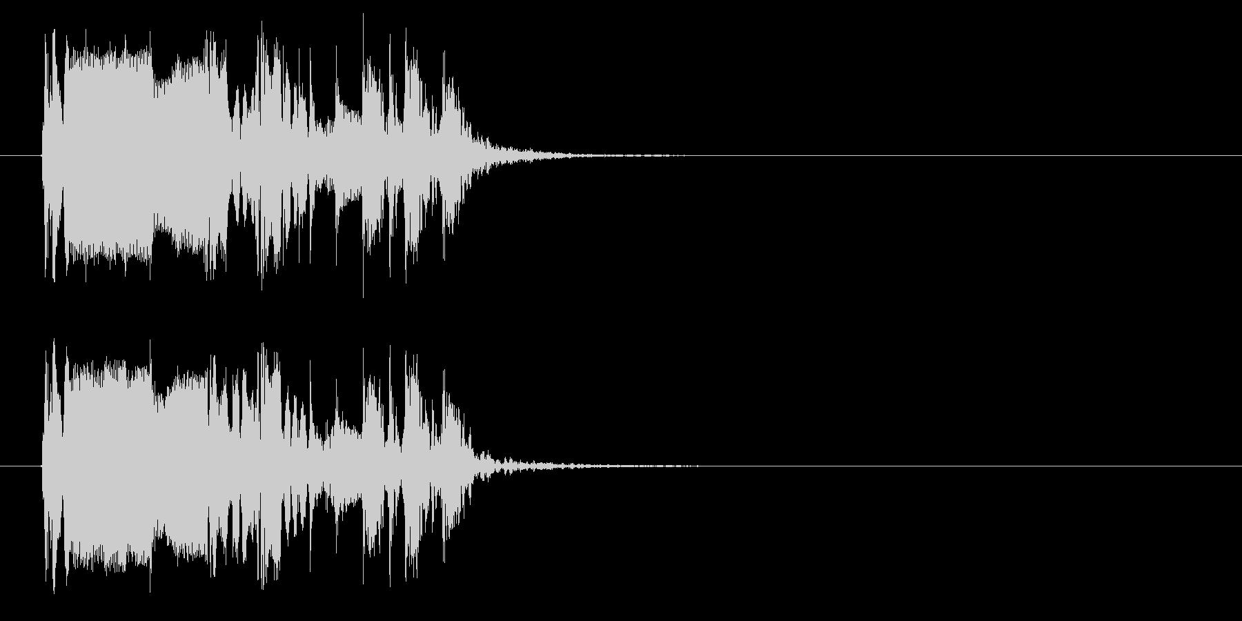おしゃれでワクワク感のあるシンセサウンドの未再生の波形