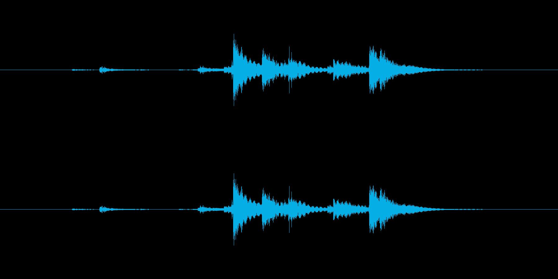 ジム ダンベルスレッドテイクオフウ...の再生済みの波形