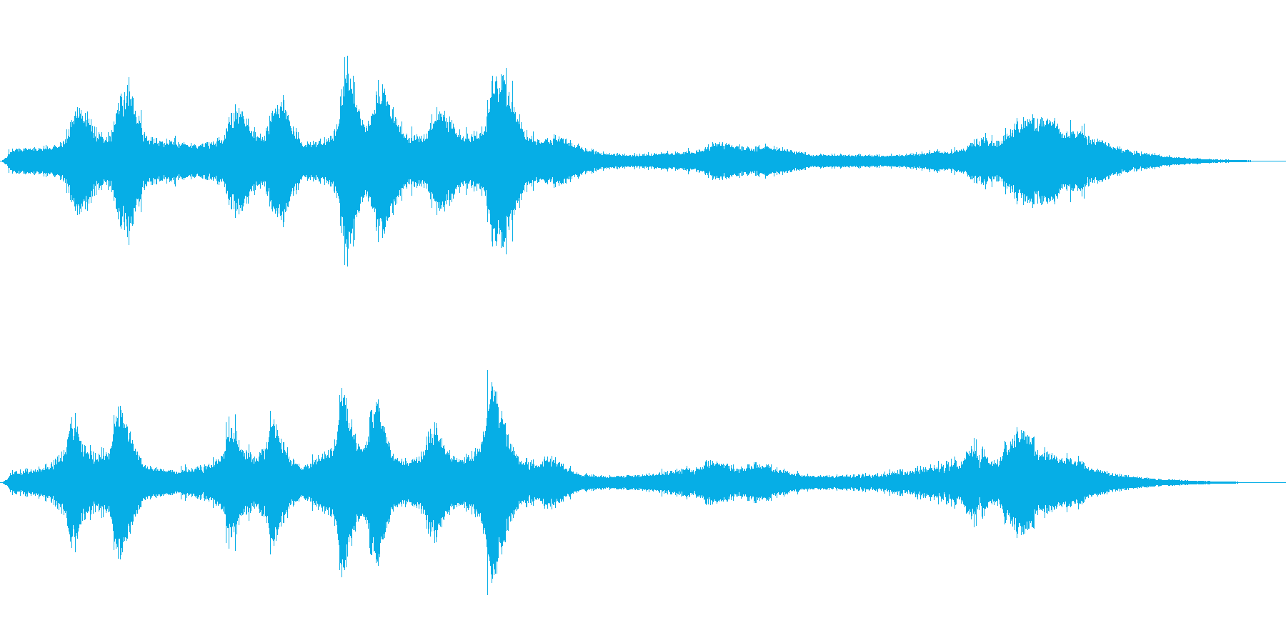 【生録音】 早朝の街 交通 環境音 25の再生済みの波形