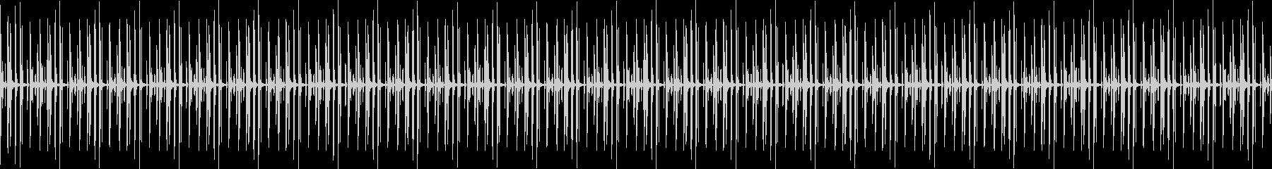 ドラムオンリーのミニマルハウスビートの未再生の波形