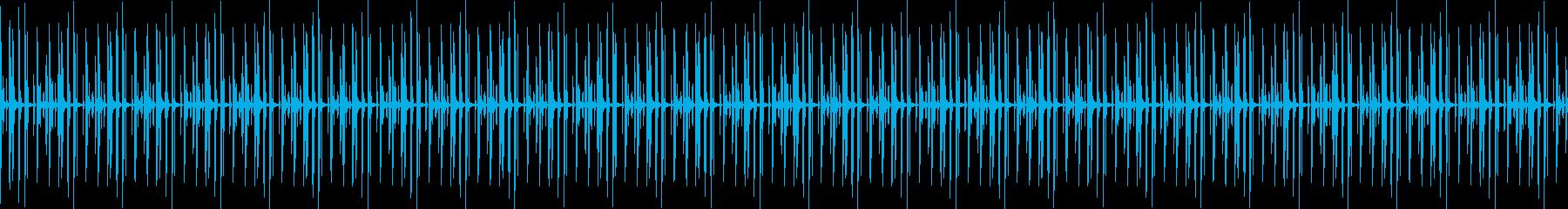 ドラムオンリーのミニマルハウスビートの再生済みの波形