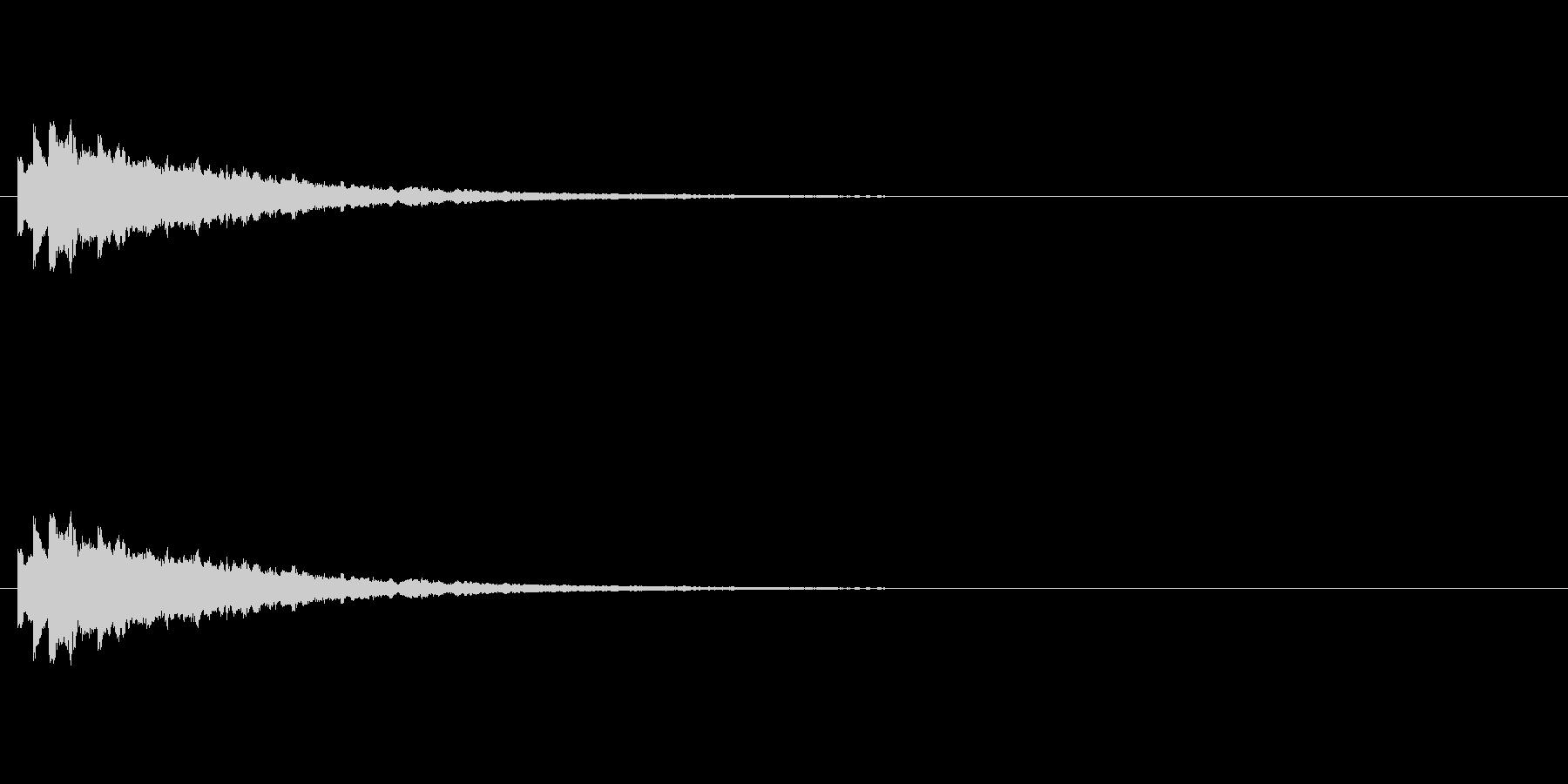 テロップの音・決定音・トルルルーンの未再生の波形