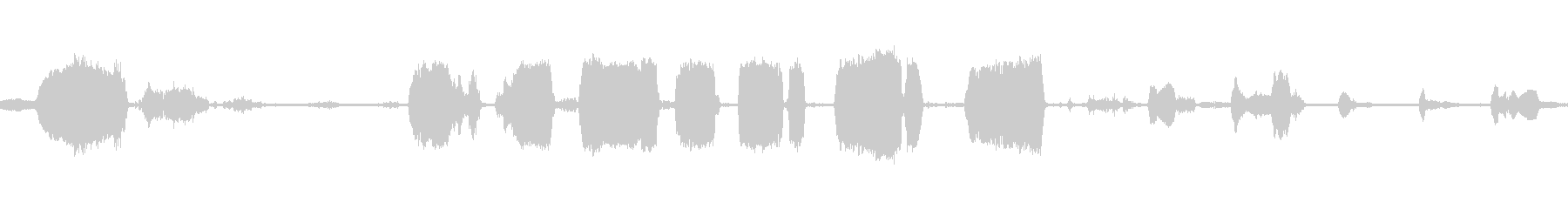 ベビーベア、スクリームアンドクライ...の未再生の波形