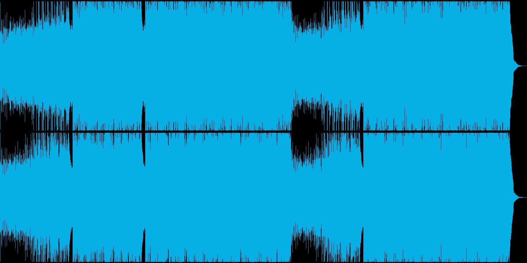 エネルギッシュなギターロックの再生済みの波形