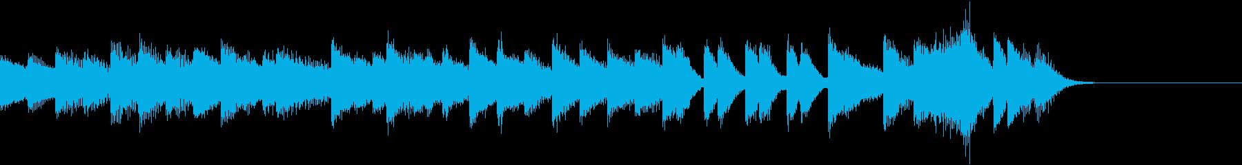 熱くてスポーティーなパワーピアノジングルの再生済みの波形
