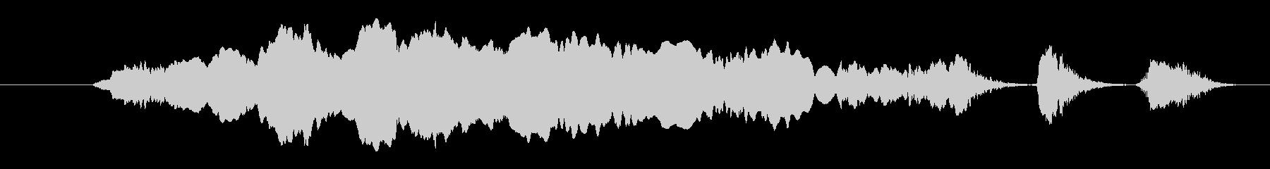 大型犬:声が長く、犬の未再生の波形