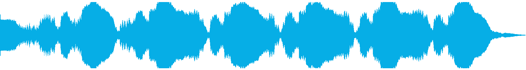 テキストグローゴングパルスの再生済みの波形