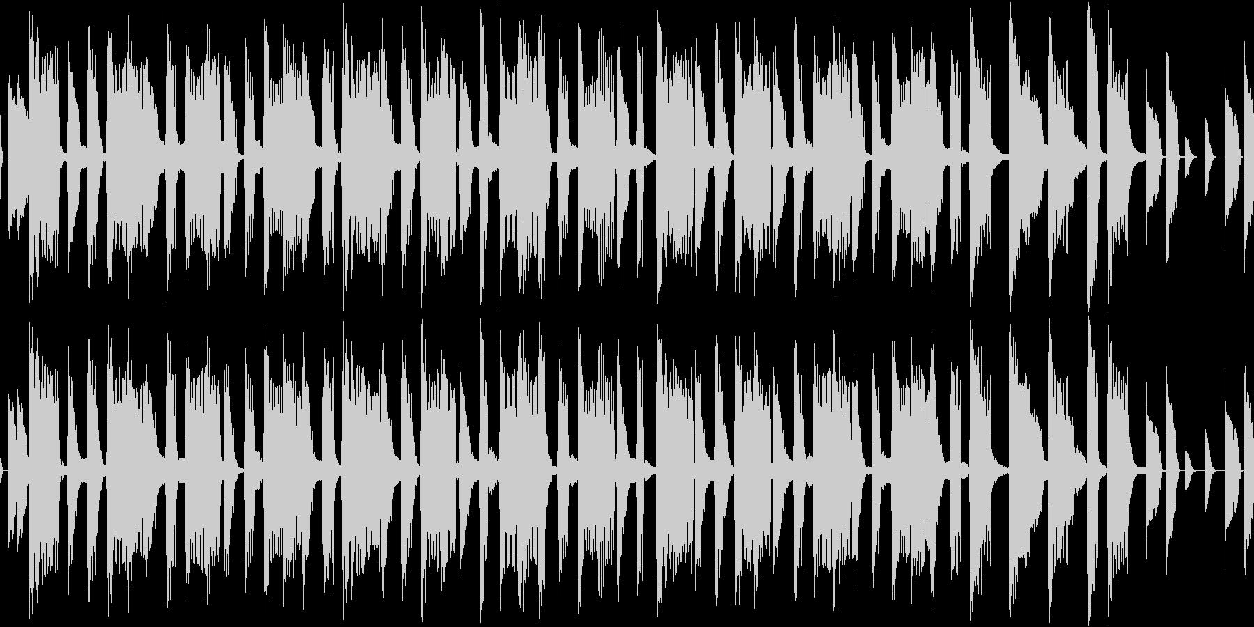 軽快なオープニング用ピコピコループの未再生の波形