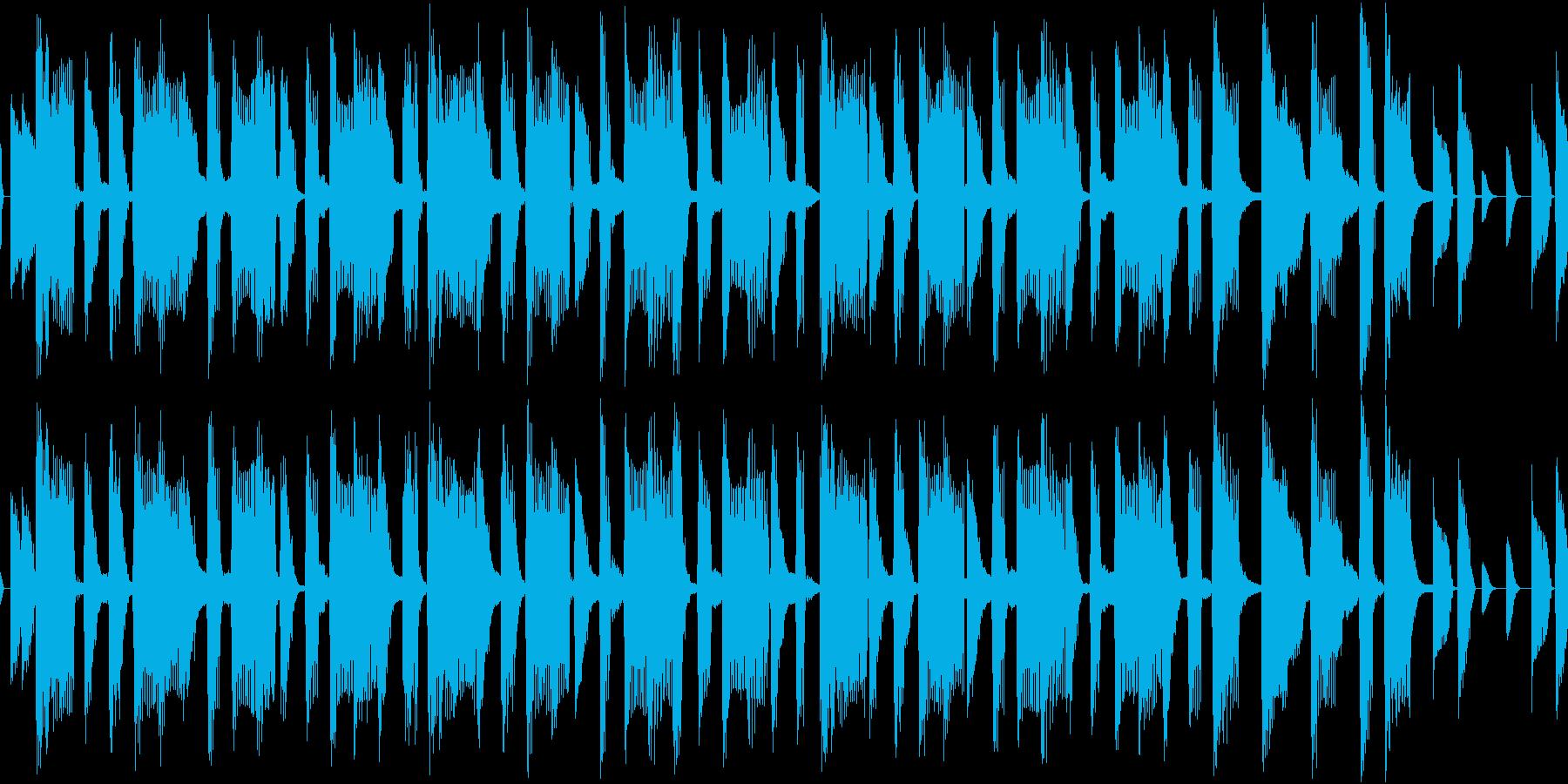 軽快なオープニング用ピコピコループの再生済みの波形