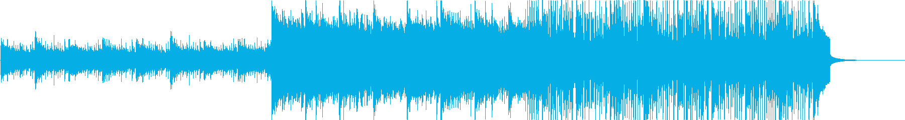 ギターのハーモニクスとシンセサイザ...の再生済みの波形