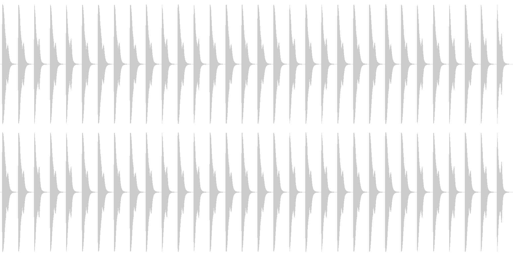 ?マークが浮かんだときをイメージしまし…の未再生の波形
