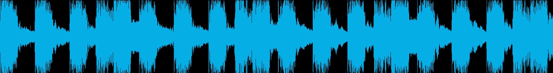ケロケロフロッグデンデンリズムループ素材の再生済みの波形