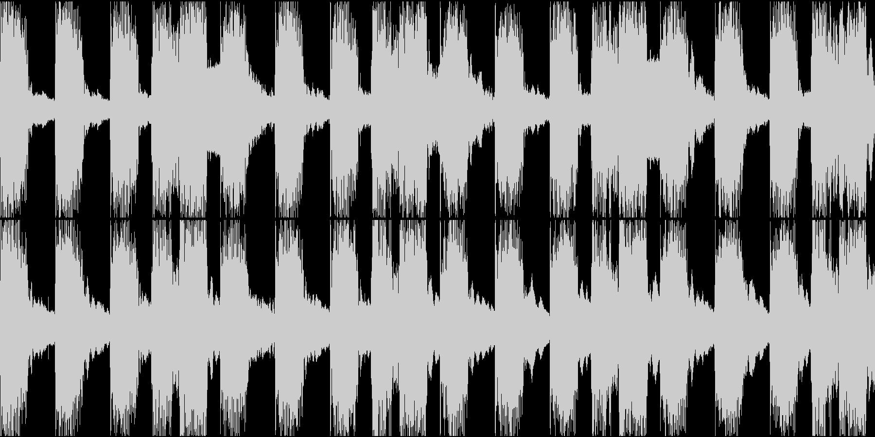 ケロケロフロッグデンデンリズムループ素材の未再生の波形
