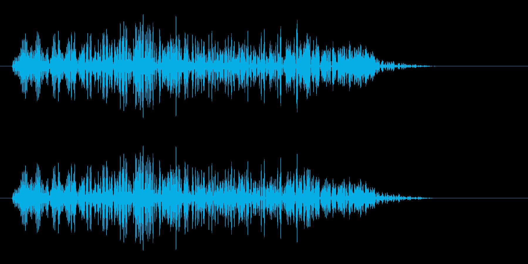 プワーン(短めの音)の再生済みの波形